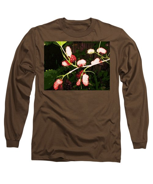 Long Sleeve T-Shirt featuring the digital art The New Mulberries by Winsome Gunning