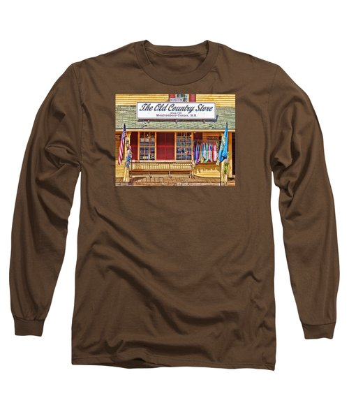 Long Sleeve T-Shirt featuring the photograph The Old Country Store, Moultonborough by Nancy De Flon