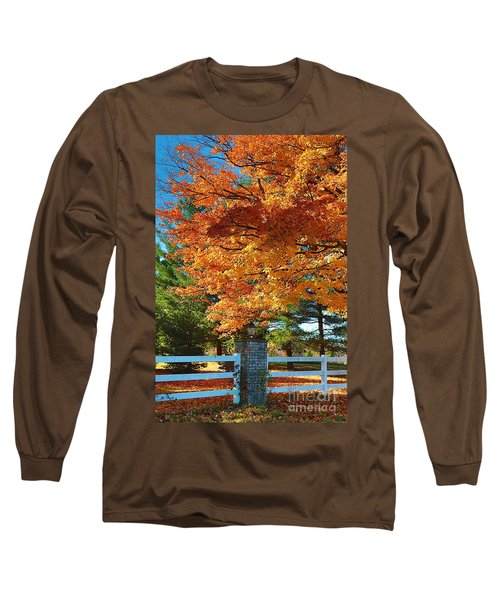 Long Sleeve T-Shirt featuring the photograph The Old Yard Light by Robert Pearson