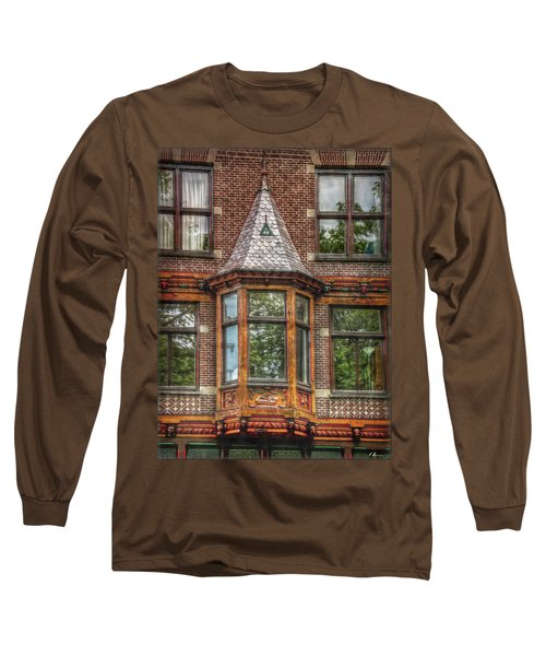 Long Sleeve T-Shirt featuring the photograph The Oriel by Hanny Heim