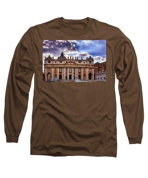 The Papal Basilica Of Saint Peter Long Sleeve T-Shirt