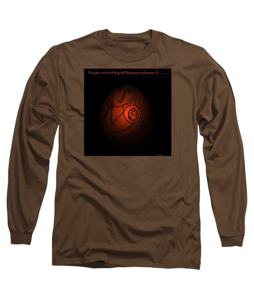 Long Sleeve T-Shirt featuring the digital art The Prince Of Peace by Latha Gokuldas Panicker