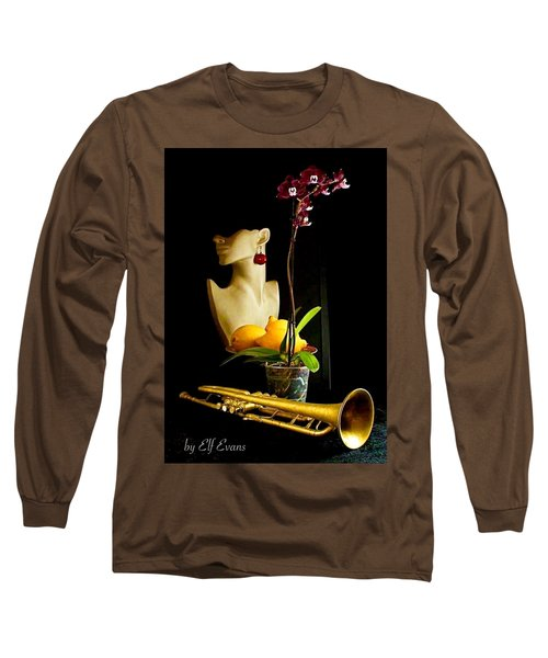The Purple Orchid Long Sleeve T-Shirt by Elf Evans