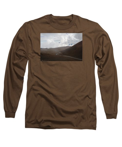 Long Sleeve T-Shirt featuring the photograph The Road To The Snow Goddess by Ryan Manuel