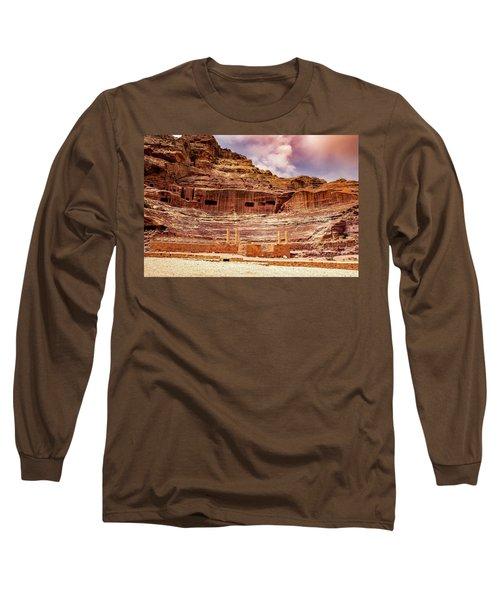 The Roman Theater At Petra Long Sleeve T-Shirt