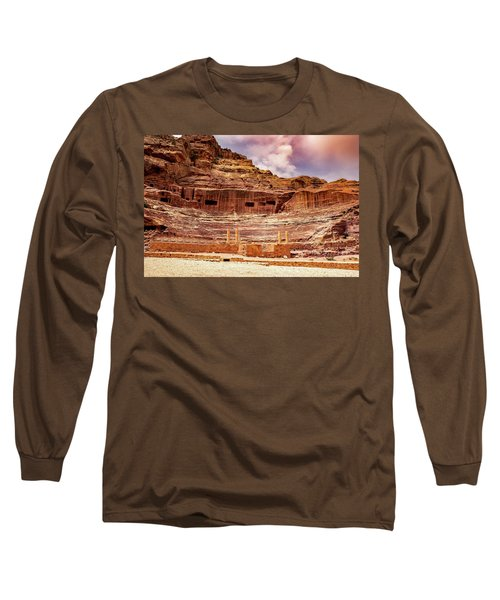 The Roman Theater At Petra Long Sleeve T-Shirt