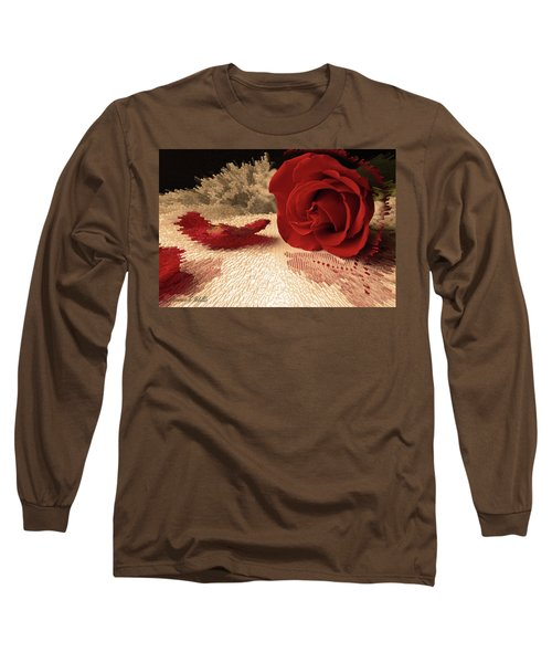 The Rose Long Sleeve T-Shirt by Bonnie Willis