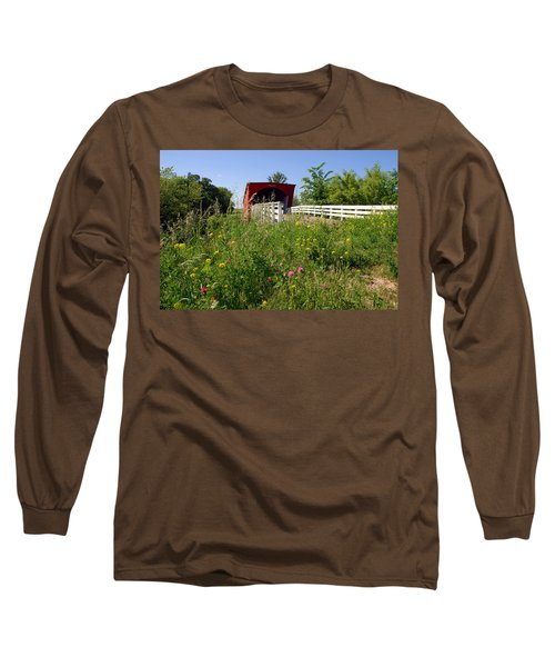 The Roseman Bridge In Madison County Iowa Long Sleeve T-Shirt