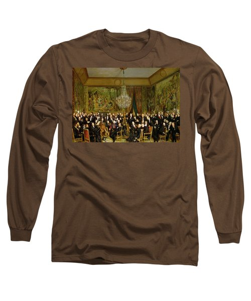 The Salon Of Alfred Emilien At The Louvre Long Sleeve T-Shirt by Francois Auguste Biard