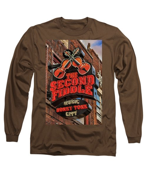 Long Sleeve T-Shirt featuring the photograph The Second Fiddle Nashville by Stephen Stookey
