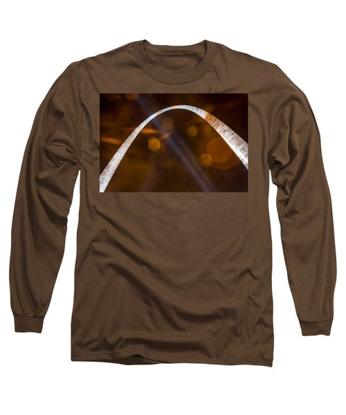 The Silver Gateway Arch Long Sleeve T-Shirt by Semmick Photo