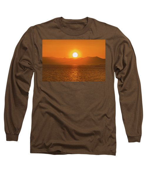The Smoke From A Forest Fire Gave Us This Tangerine Sky Over 11-mile Reservoir State Park, Colorado. Long Sleeve T-Shirt