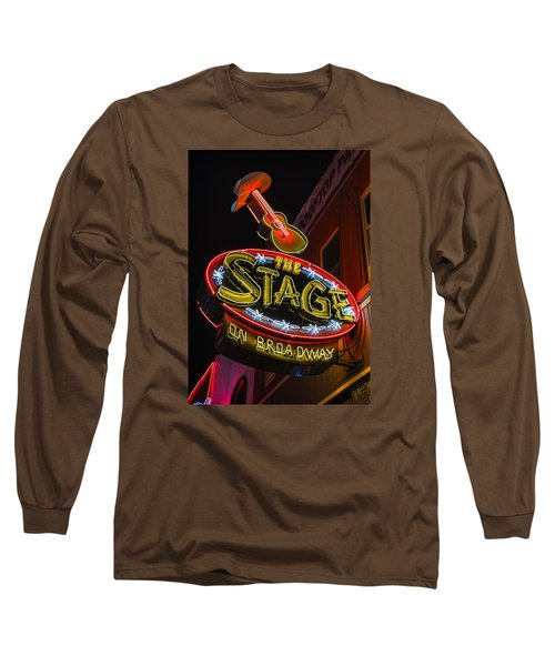 The Stage On Broadway Long Sleeve T-Shirt by Stephen Stookey