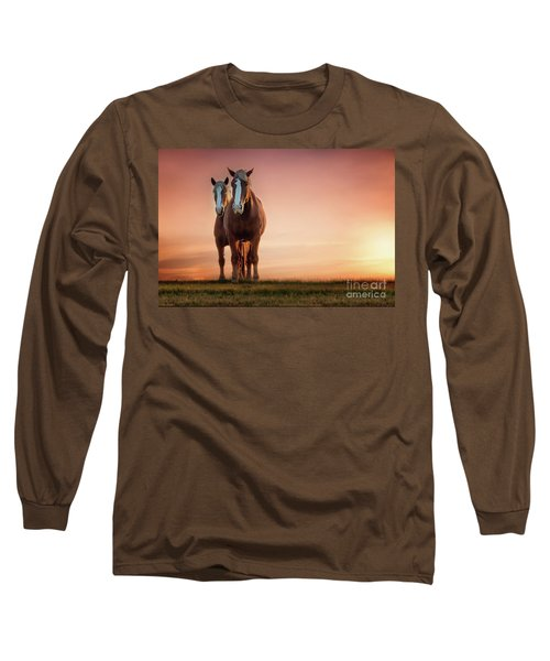 The Stallion And The Mare II Long Sleeve T-Shirt by Tamyra Ayles