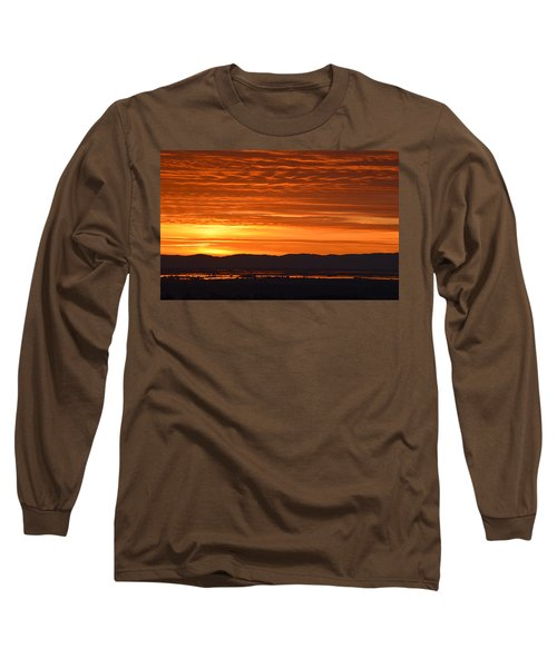 Long Sleeve T-Shirt featuring the photograph The Textured Sky by AJ Schibig