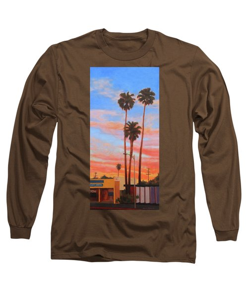The Three Palms Long Sleeve T-Shirt by Andrew Danielsen