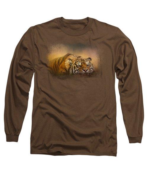 The Tiger Awakens Long Sleeve T-Shirt by Jai Johnson
