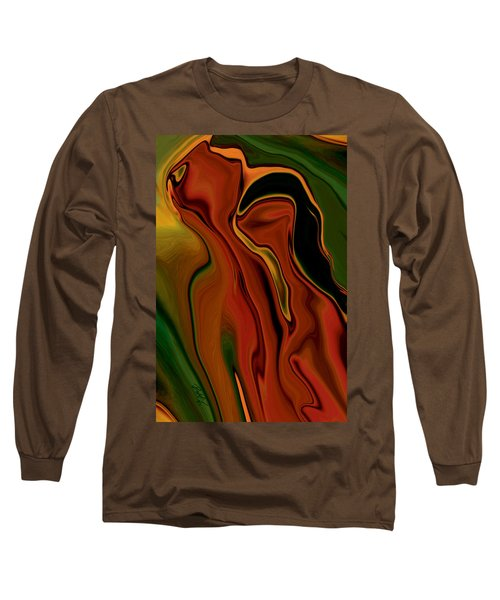 Long Sleeve T-Shirt featuring the digital art The Two by Rabi Khan