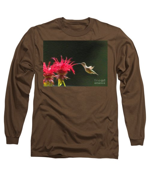 Long Sleeve T-Shirt featuring the photograph The Visitor by Robert Pearson