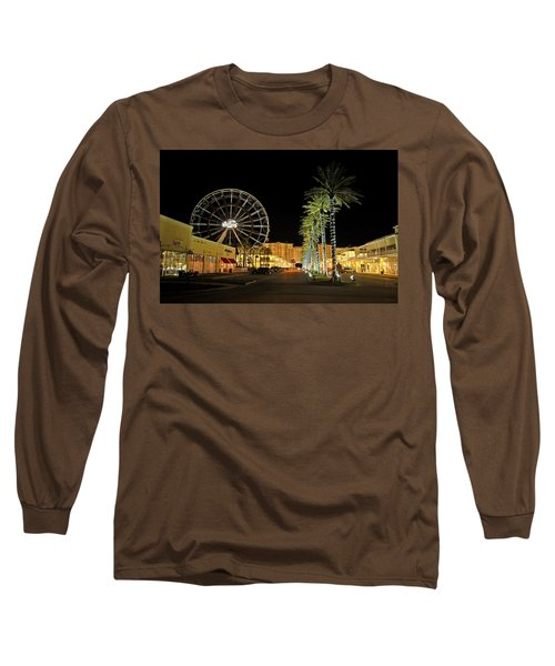 The Wharf At Night  Long Sleeve T-Shirt