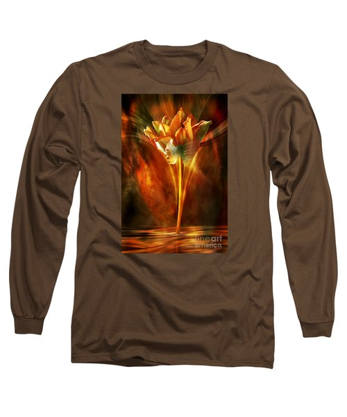 Long Sleeve T-Shirt featuring the digital art The Wild And Beautiful by Johnny Hildingsson