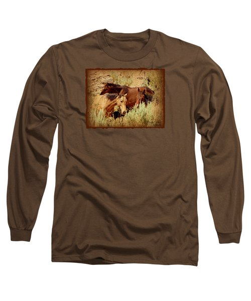 The Wild Horse Threesome Long Sleeve T-Shirt
