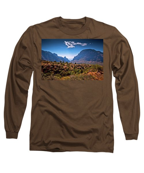 The Window In The Chisos Mountains Long Sleeve T-Shirt