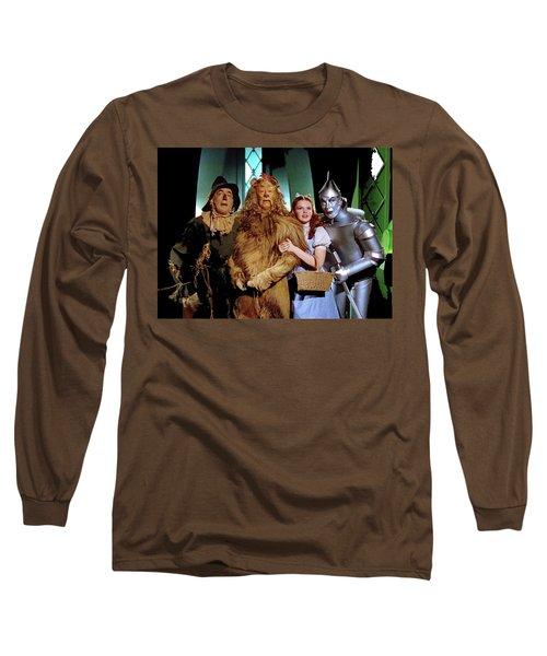 The Wizard Of Oz  Quartet Eric Carpenter Publicity Kodachrome 1939 Long Sleeve T-Shirt