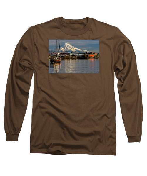 Long Sleeve T-Shirt featuring the photograph Thea Foss Waterway And Rainier 1 by Rob Green