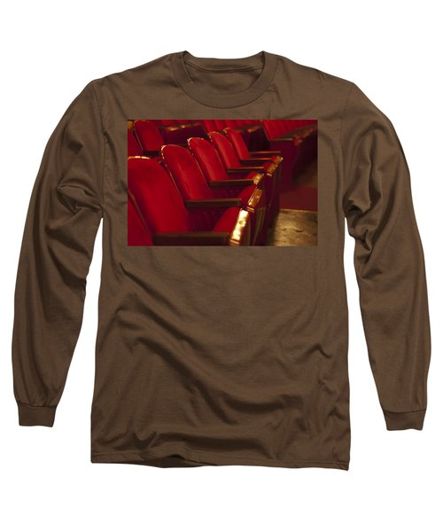 Long Sleeve T-Shirt featuring the photograph Theater Seating by Carolyn Marshall