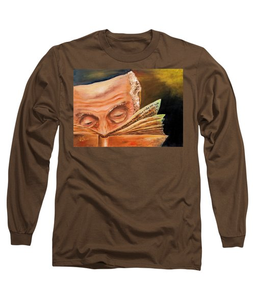 Long Sleeve T-Shirt featuring the painting This Book Of The Law Shall Not Depart Out Of Thy Mouth by Itzhak Richter