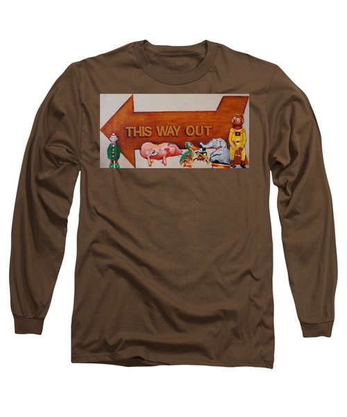 This Way Out Long Sleeve T-Shirt by Jean Cormier