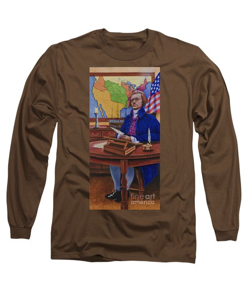 Thomas Jefferson Long Sleeve T-Shirt by Michael Frank