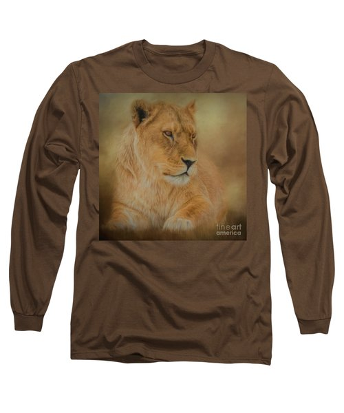 Thoughtful Lioness - Square Long Sleeve T-Shirt