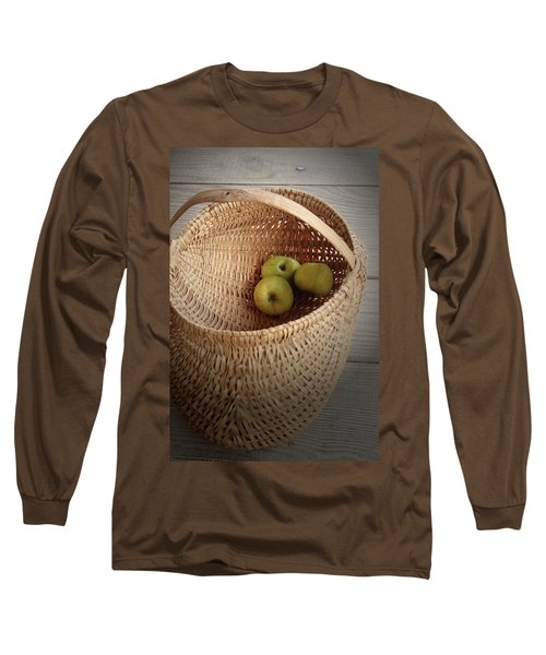 Long Sleeve T-Shirt featuring the photograph Three Apples by Emanuel Tanjala