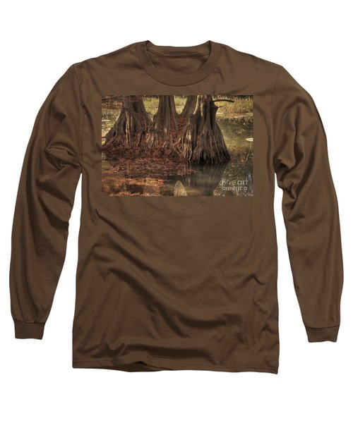 Long Sleeve T-Shirt featuring the photograph Three Trees In Lake Murray by Tamyra Ayles