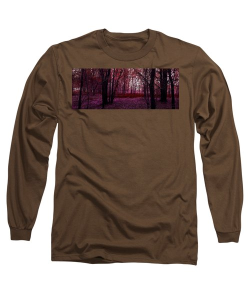 Through A Forest Long Sleeve T-Shirt by Michele Carter