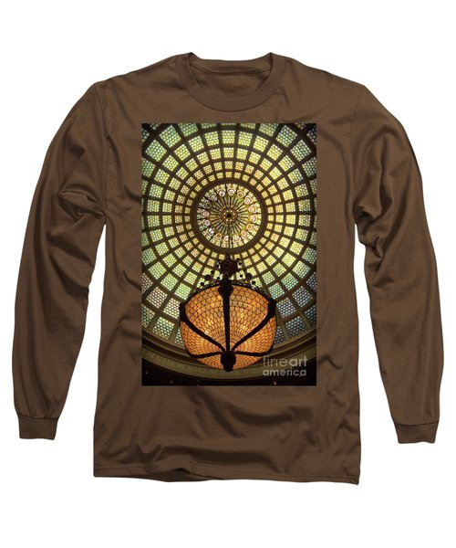 Tiffany Ceiling In The Chicago Cultural Center Long Sleeve T-Shirt