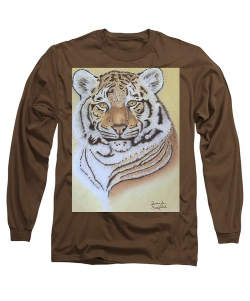 Tiger Long Sleeve T-Shirt by Brenda Bonfield