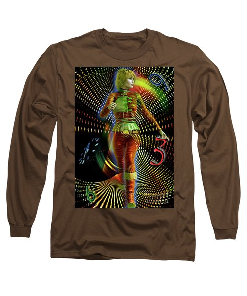 Long Sleeve T-Shirt featuring the digital art Time Zone by Shadowlea Is