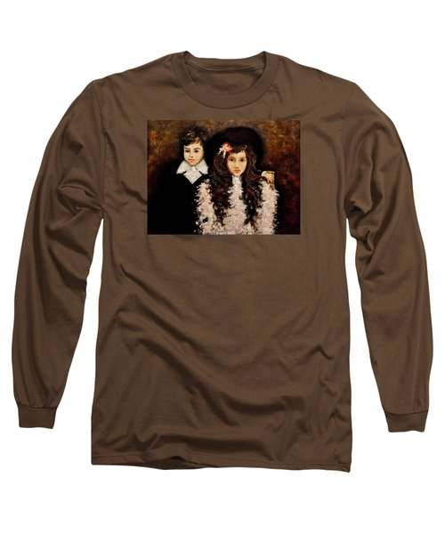 Long Sleeve T-Shirt featuring the painting Timeless..2 by Cristina Mihailescu