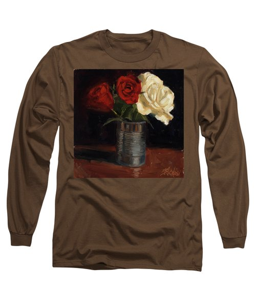 Long Sleeve T-Shirt featuring the painting Tin Can Love by Billie Colson
