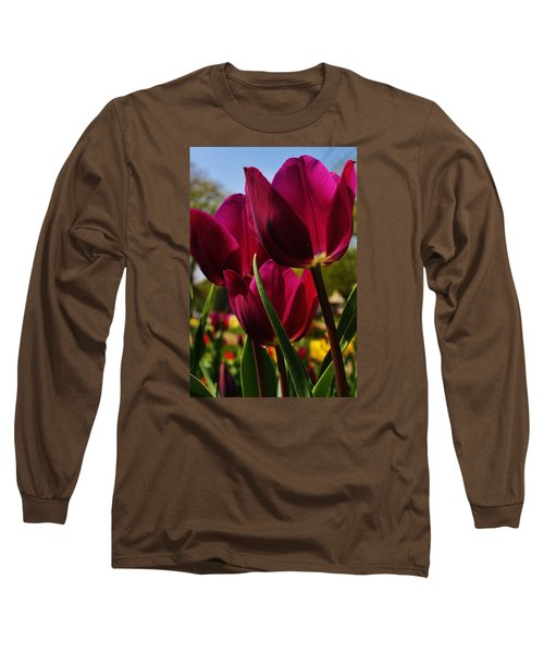 Tip Toe Through The Tulips Long Sleeve T-Shirt by Bruce Bley