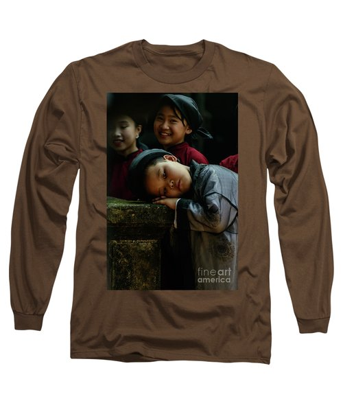 Tired Actor Long Sleeve T-Shirt by Werner Padarin