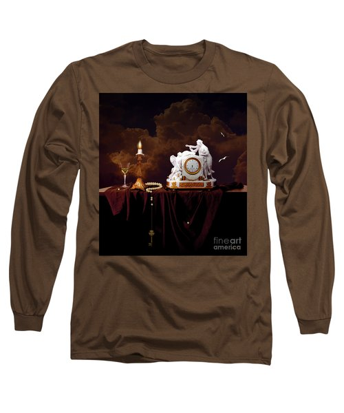 Long Sleeve T-Shirt featuring the digital art Tired Angels by Alexa Szlavics