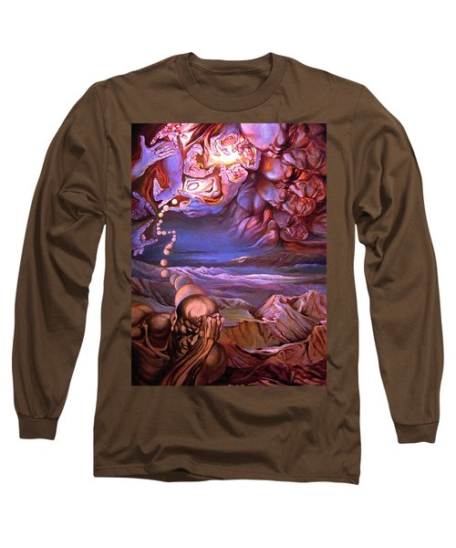 Titan In Desert Or Theft Of Intentions Long Sleeve T-Shirt by Mikhail Savchenko