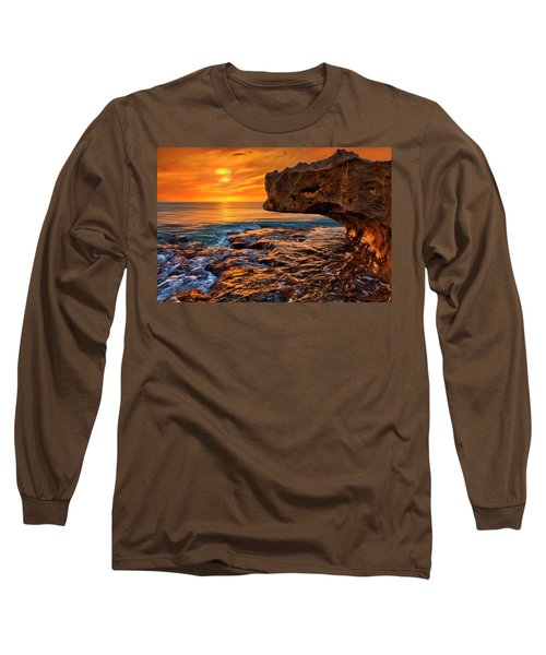 To God Be The Glory - Sunrise Over Ocean Reef Park On Singer Island Florida Long Sleeve T-Shirt