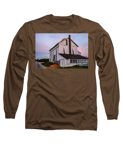 Tobacco Barn At Dusk Long Sleeve T-Shirt