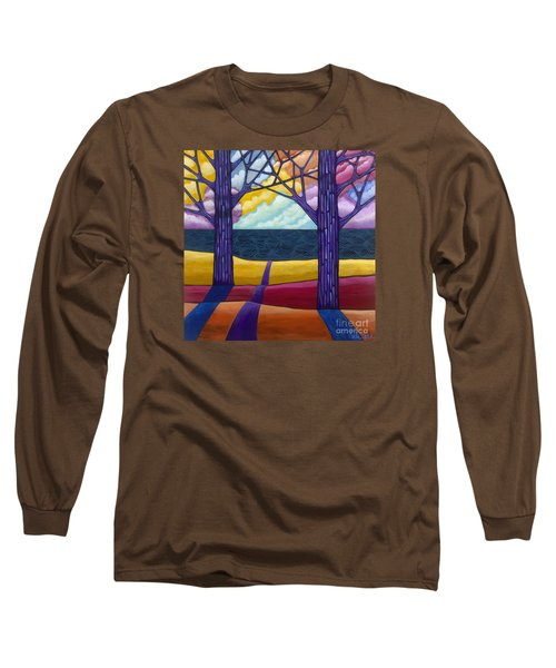 Long Sleeve T-Shirt featuring the painting Together Forever by Carla Bank