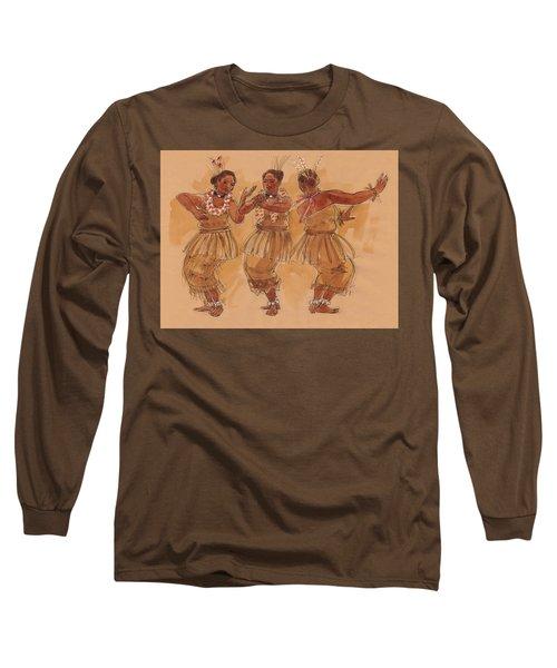 Tonga Dance From Niuafo'ou Long Sleeve T-Shirt